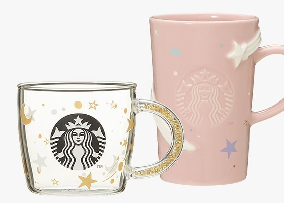 starbucks japan pastel christmas 2020 - shimmery mugs