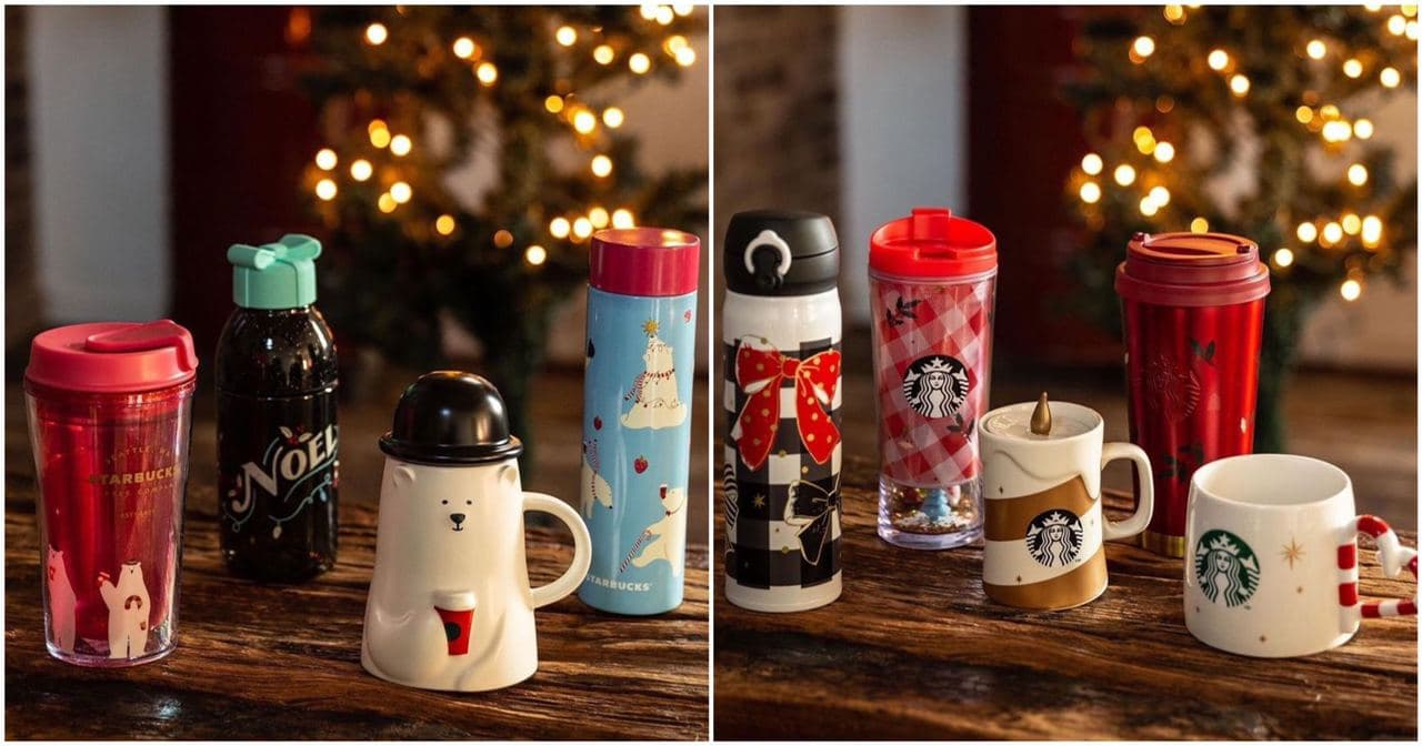 starbucks japan pastel christmas 2020 - first collection items