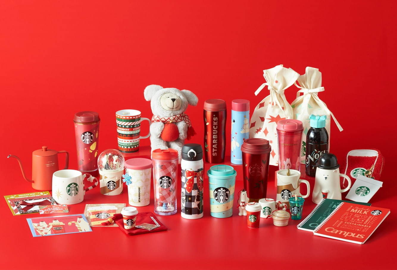 starbucks japan pastel christmas 2020 - first collection full items