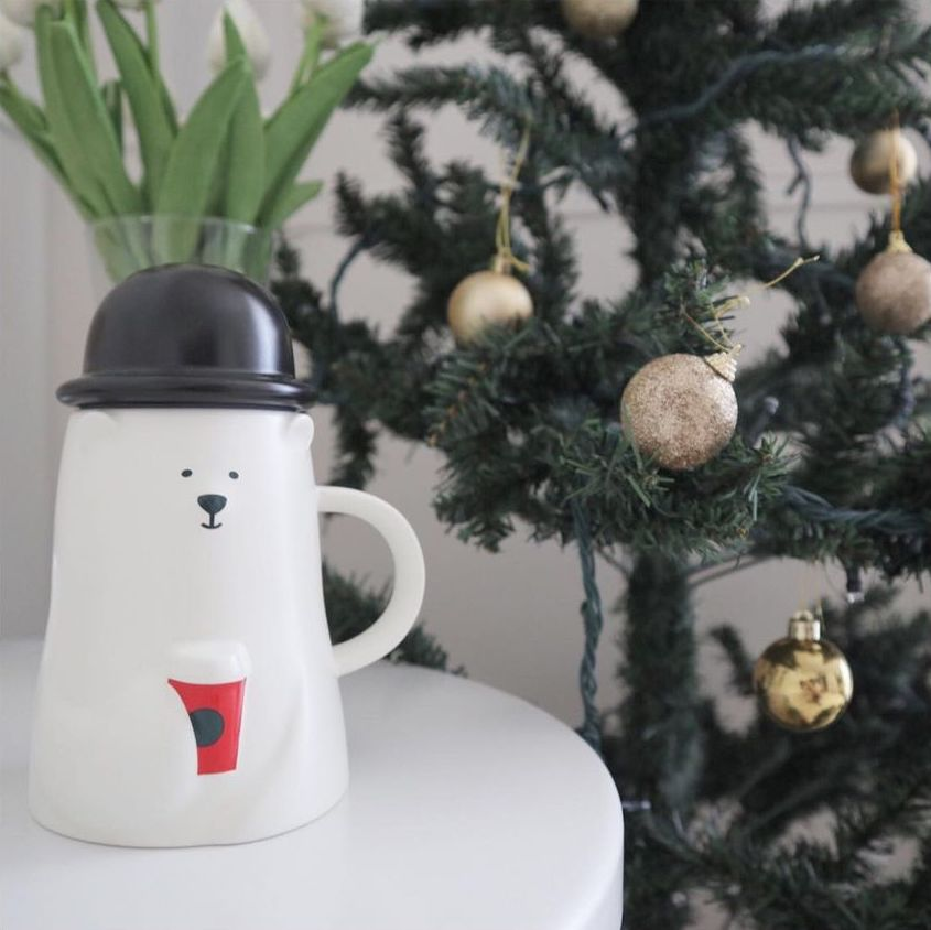 starbucks japan pastel christmas 2020 - polar bear mug