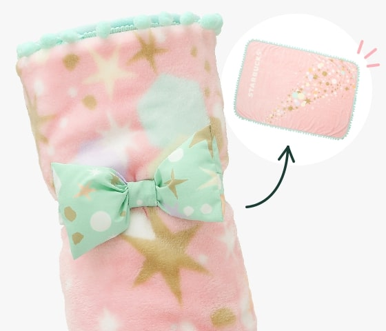starbucks japan pastel christmas 2020 - blanket