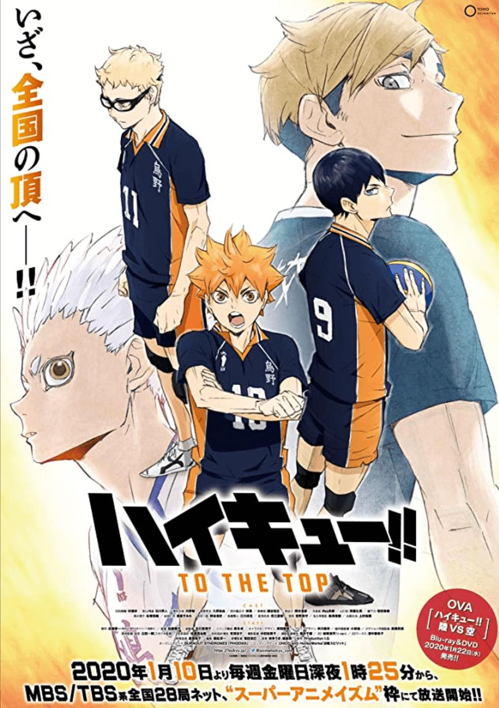 Best Anime 2020 1 - haikyuu to the top part 1