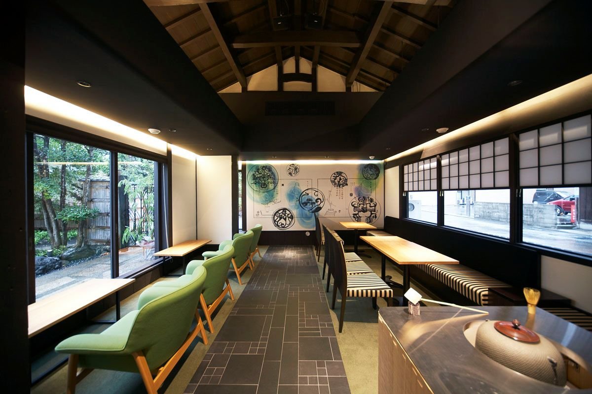 japan cafes heritage buildings - zenkashoin interior