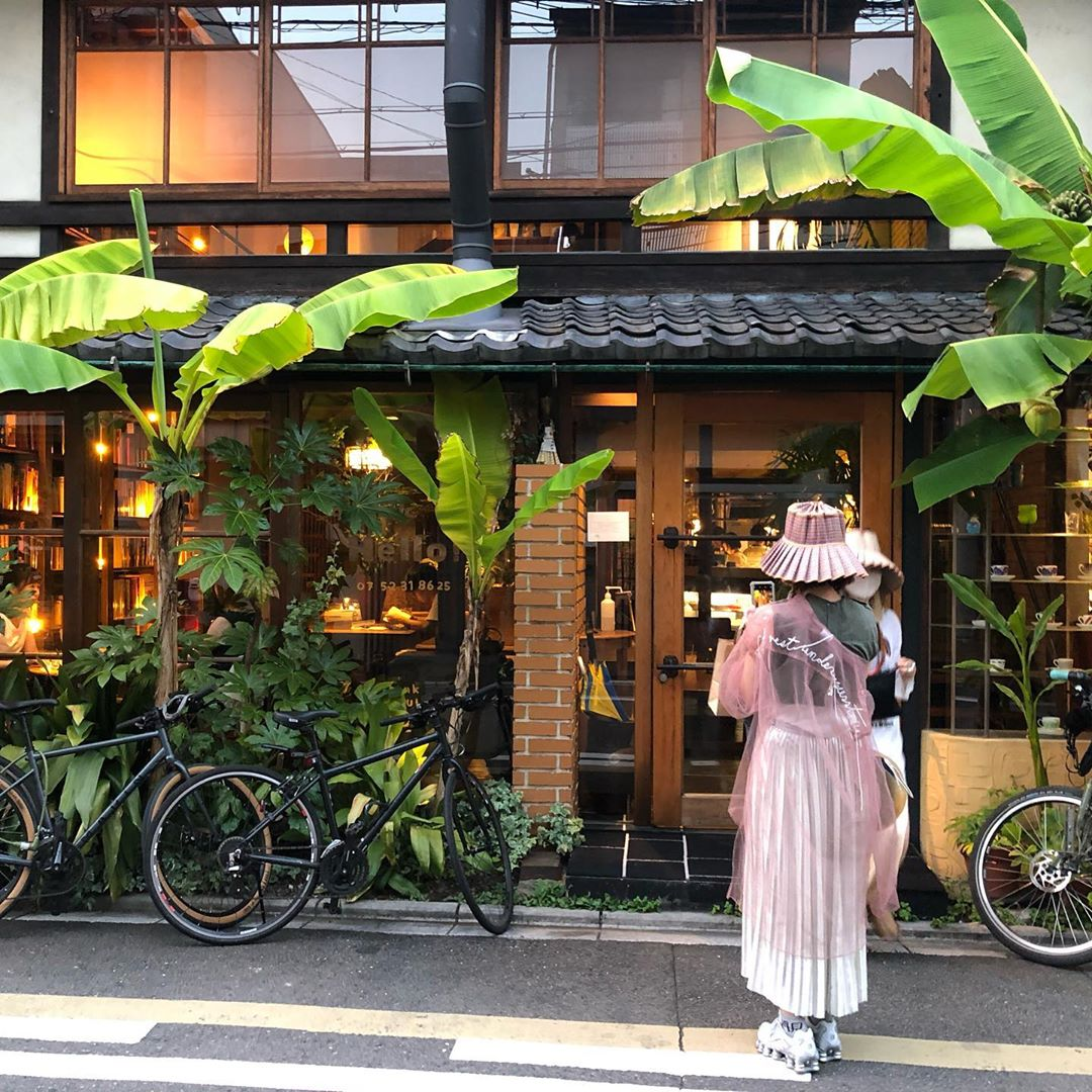 japan cafes heritage buildings - cafe bibliotic hello storefront