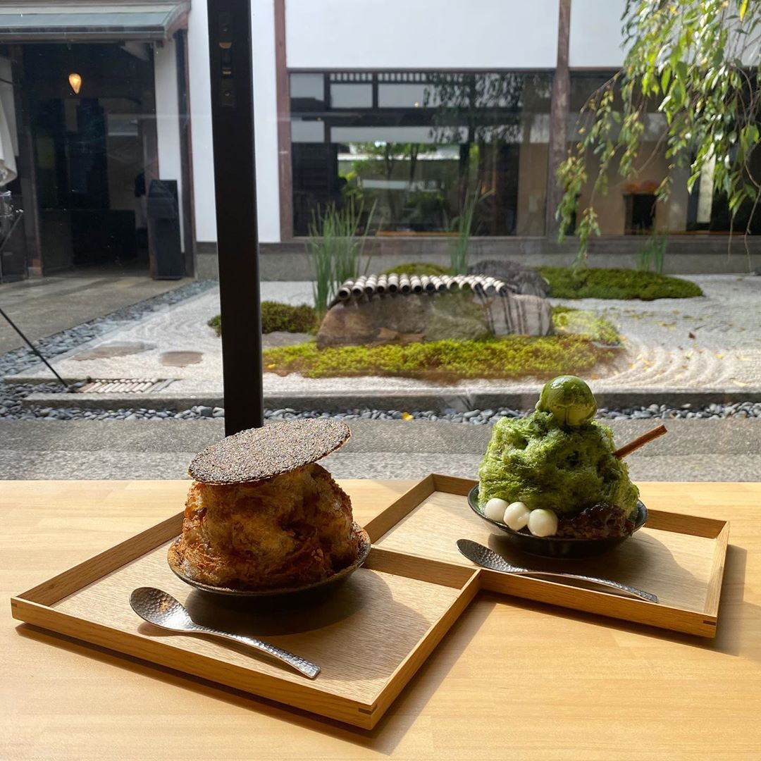 japan cafes heritage buildings - zenkashoin shaved ice