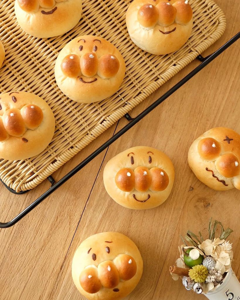 Japanese bread recipes - anpanman anpan
