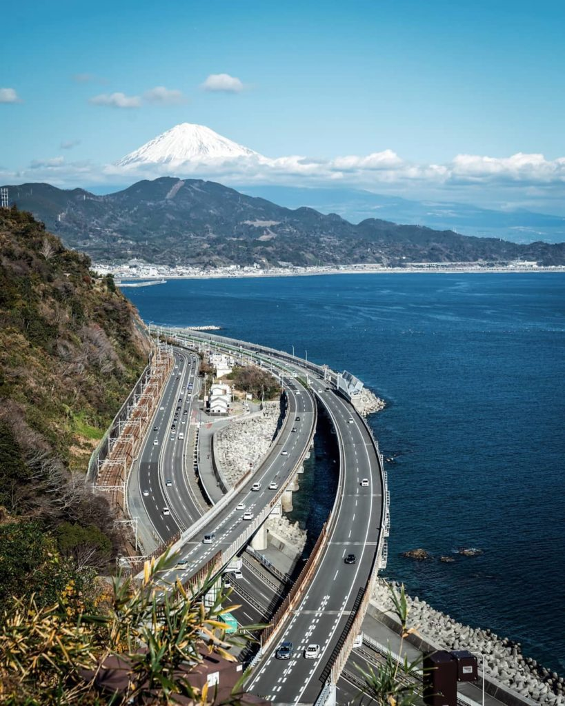 Mount Fuji covered with clouds - satta pass observation deck