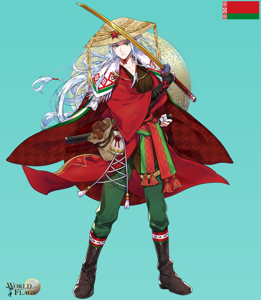country flag gijinka - belarus personified flag