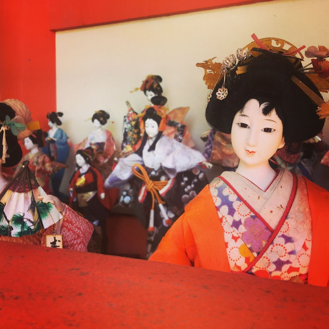 Discarded dolls at Awashima Shrine