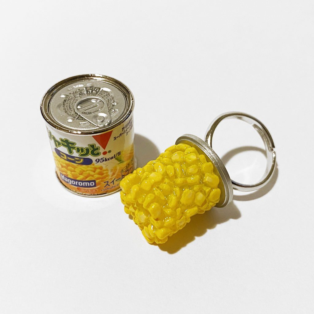 Canned food rings - canned corn rings