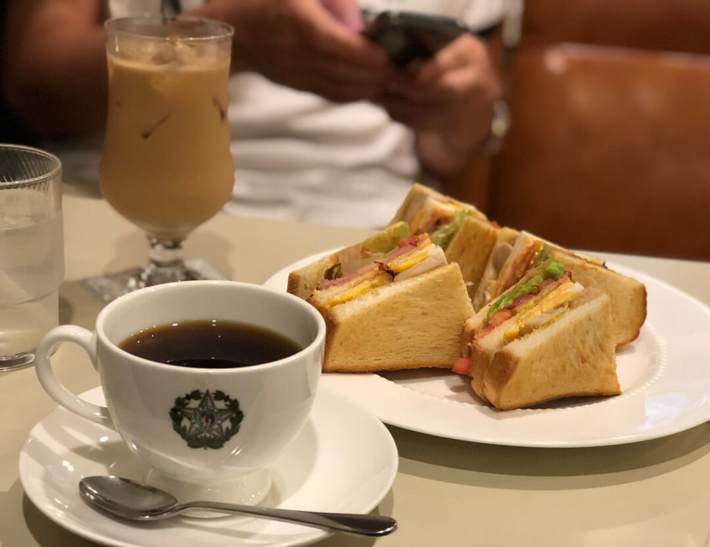 Oldest restaurants in Japan - cafe paulista coffee and sandwich