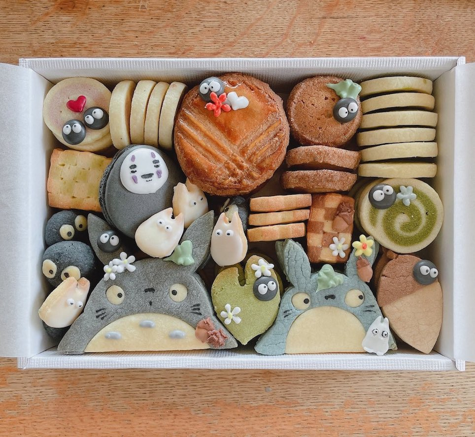 Studio Ghibli cookies - cookies in a box