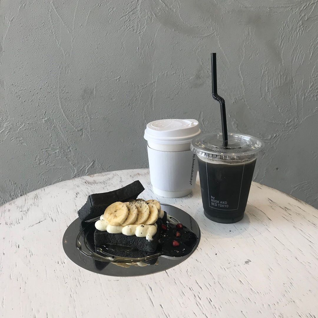 Book And Book Tokyo Shinsaibashi - Fruit sandwich with black latte