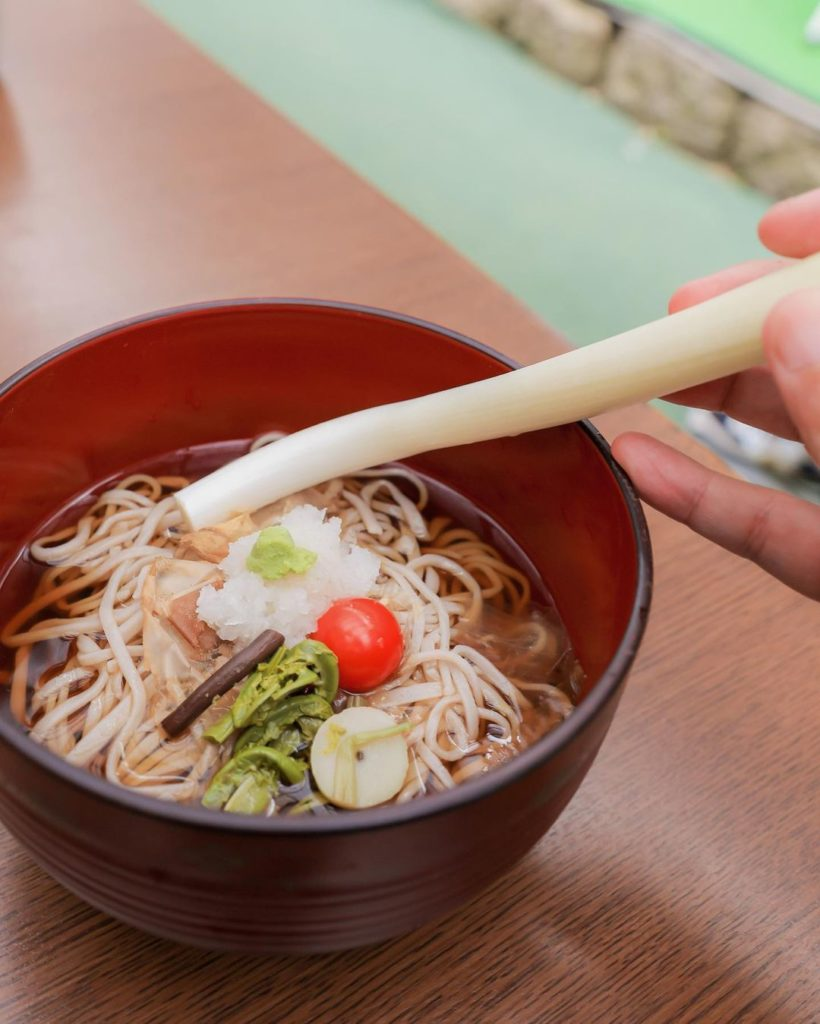 Traditional Japanese towns - negi soba