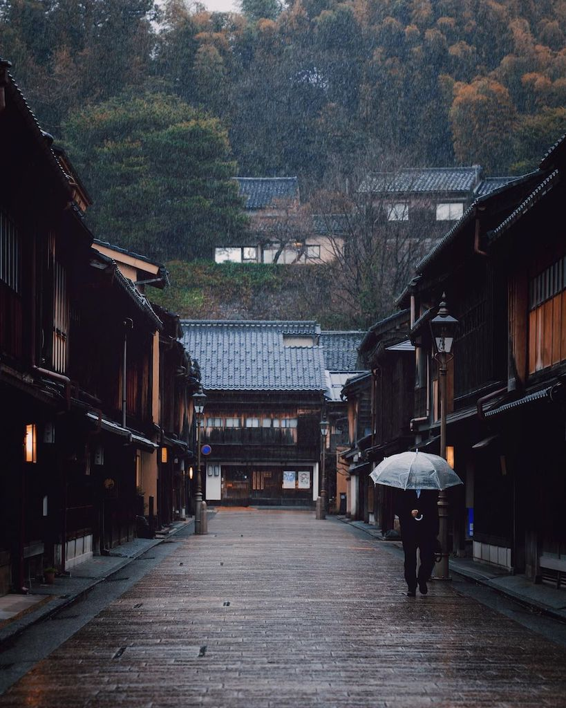 Traditional Japanese towns - higashi chaya district