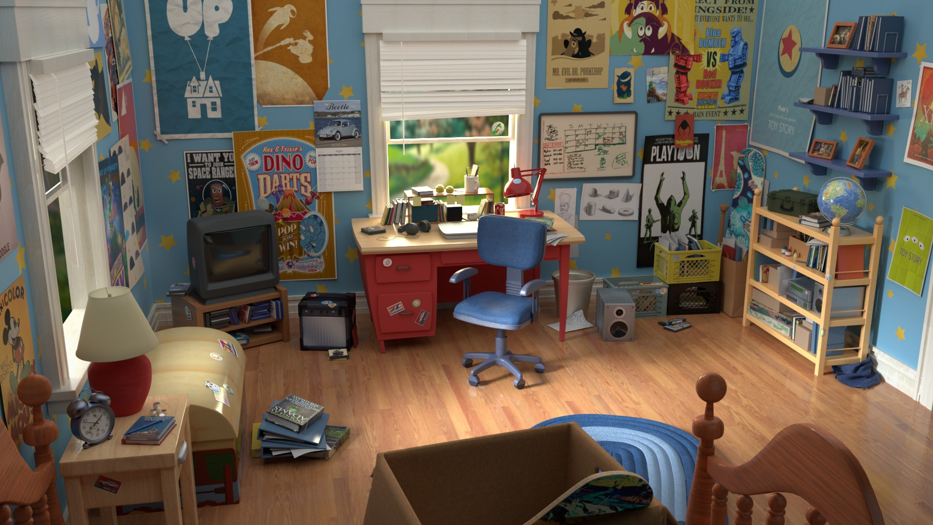 Tokyo Disney Resort Toy Story Hotel - Andy's room in the movie