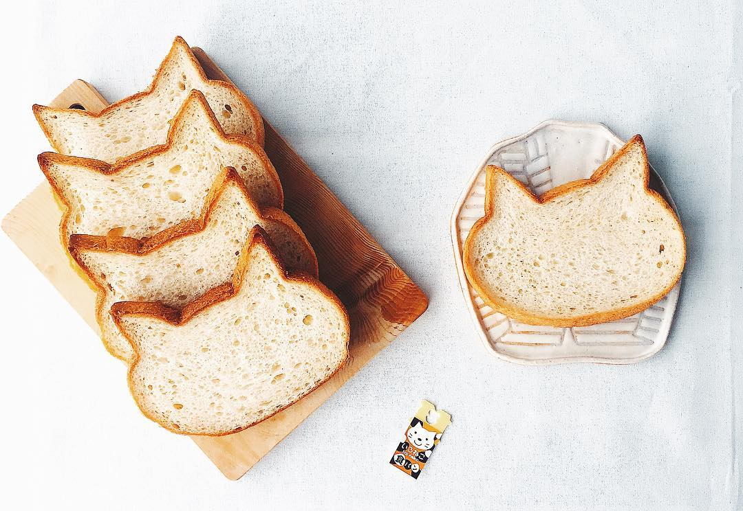 bakeries in osaka - cat-shaped loaf 1
