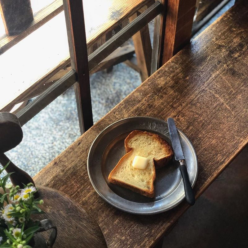Kyoto cafes - butter toast