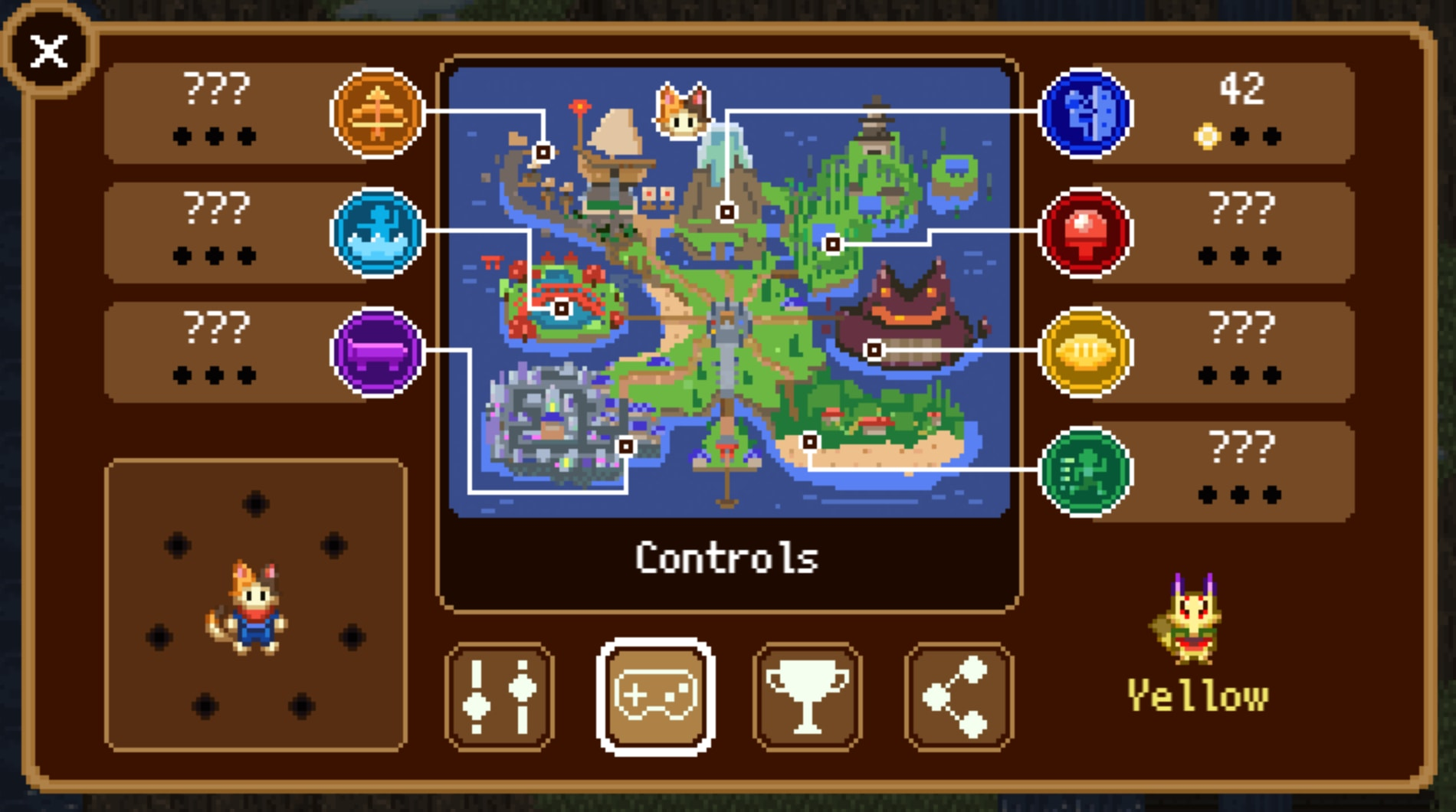 in-game compass
