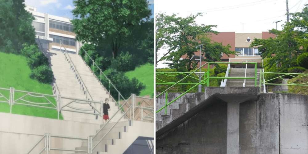 real life haikyuu town - middle school