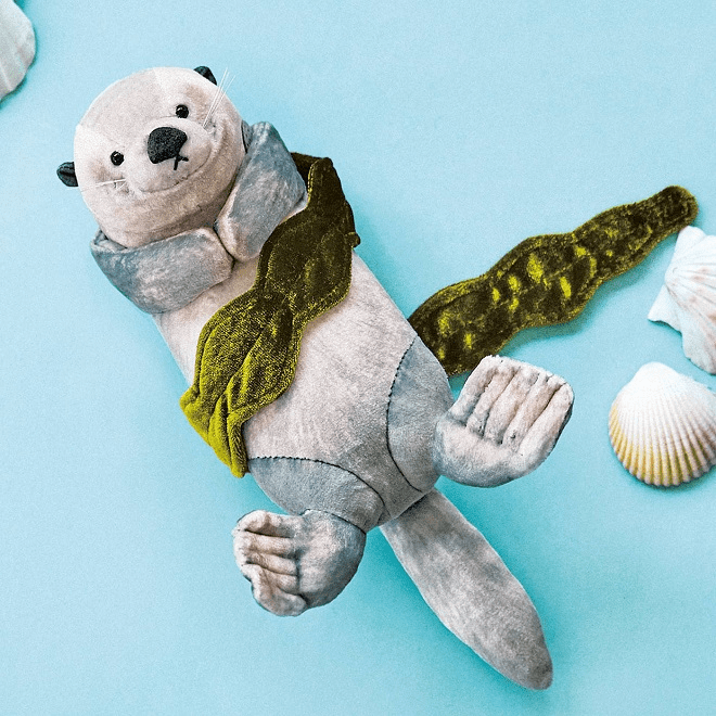 sea otter pouch - adorable otter