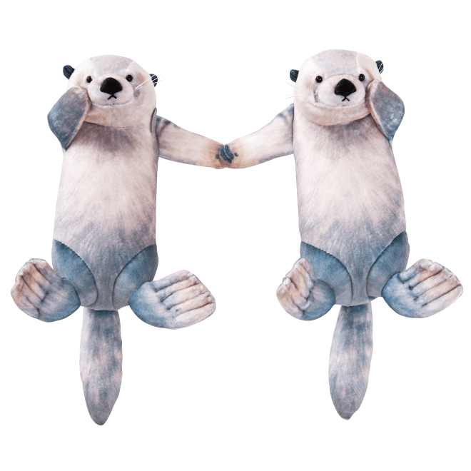 sea otter pouch - holding hands