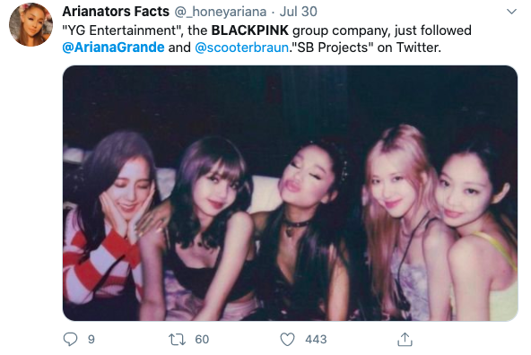 Selena Gomez and BLACKPINK - fans speculating about Ariana and BLACKPINK's history