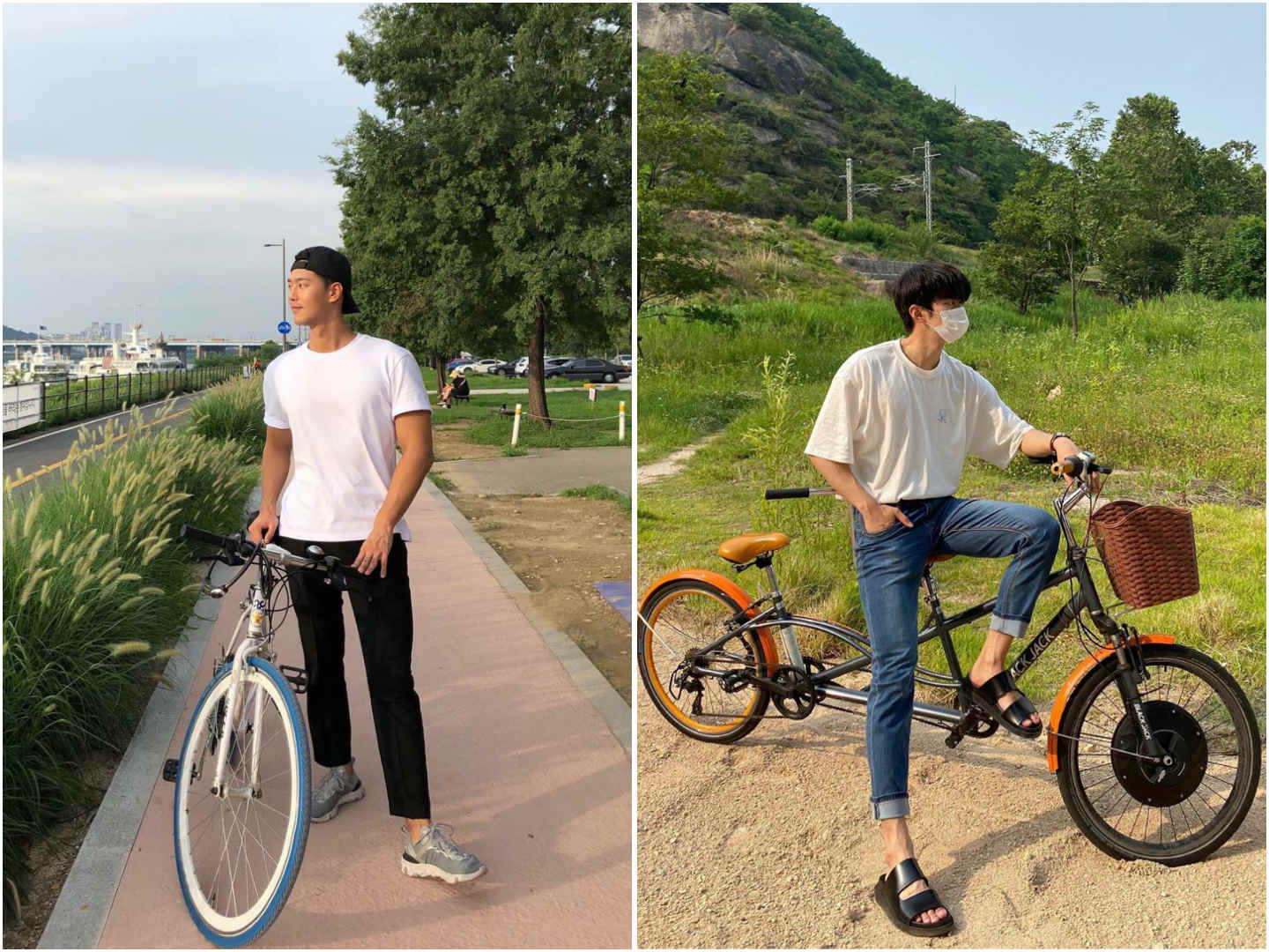 Photo Poses For Men - Pose with a bicycle