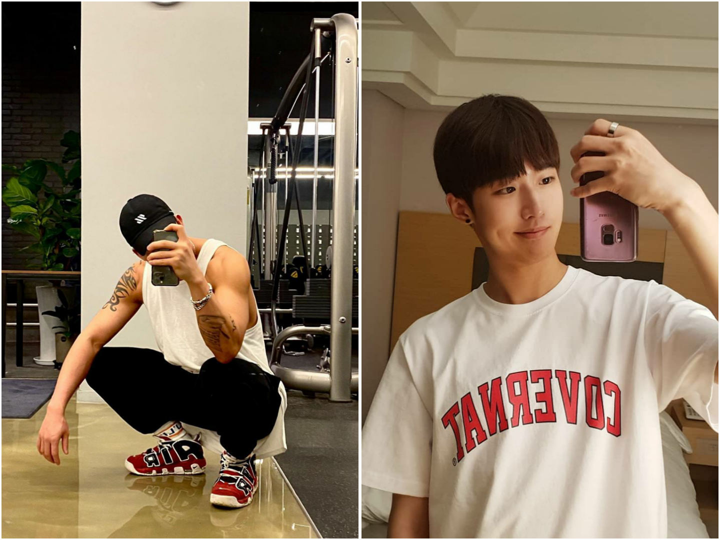 Photo Poses For Men - Mirror selfies with upside down phone