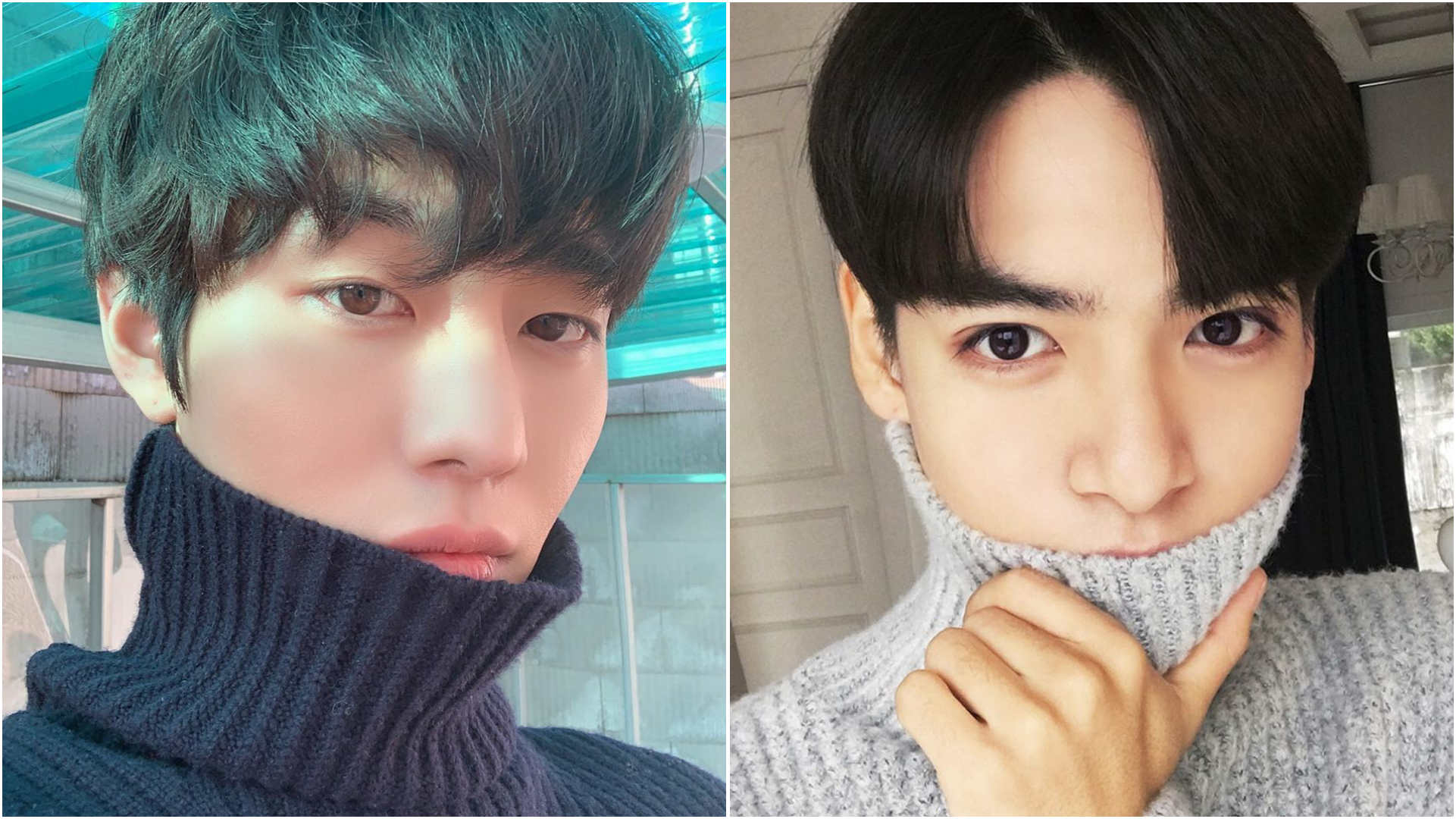 Photo Poses For Men - Cover mouth with turtleneck, Ahn Hyo-seop