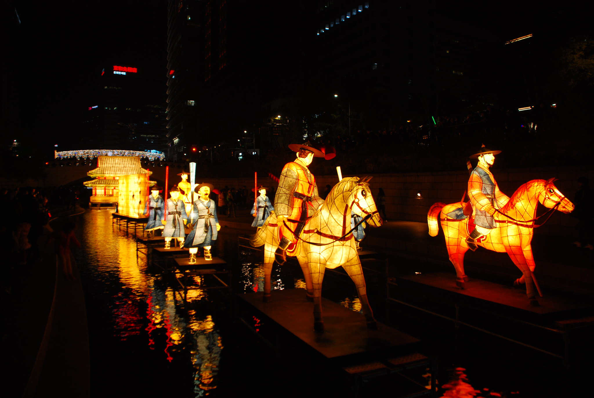 Seoul then and now - Cheonggyecheon stream, Seoul lantern festival