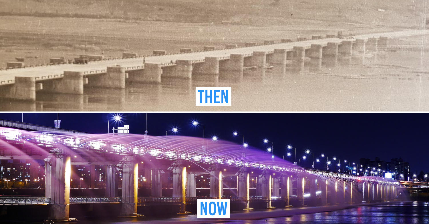 Seoul then and now - Banpo bridge
