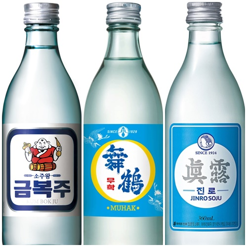 Soju Brands in Korea - Newtro editions