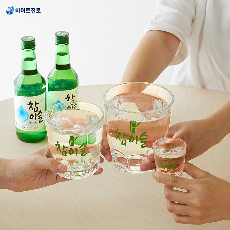 Soju Brands in Korea - Everybody drinks Chamisul