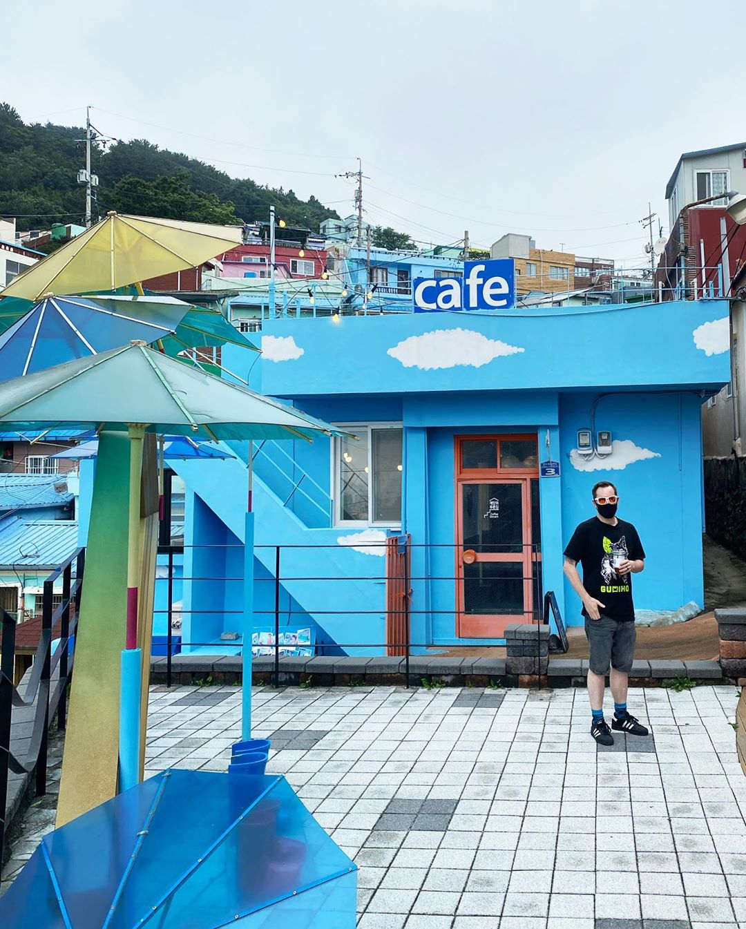 Gamcheon Culture Village - Blue House on the Stairs 계단위 푸른집