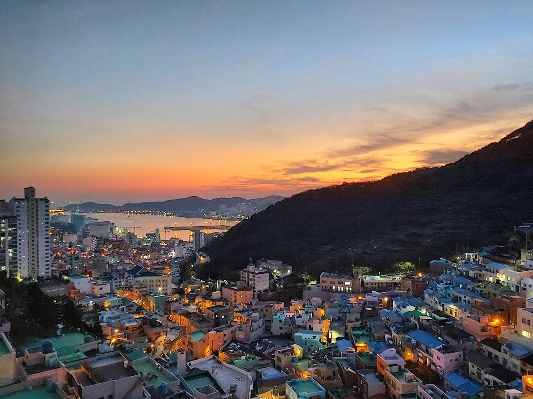 Gamcheon Culture Village - Panoramic sunset view