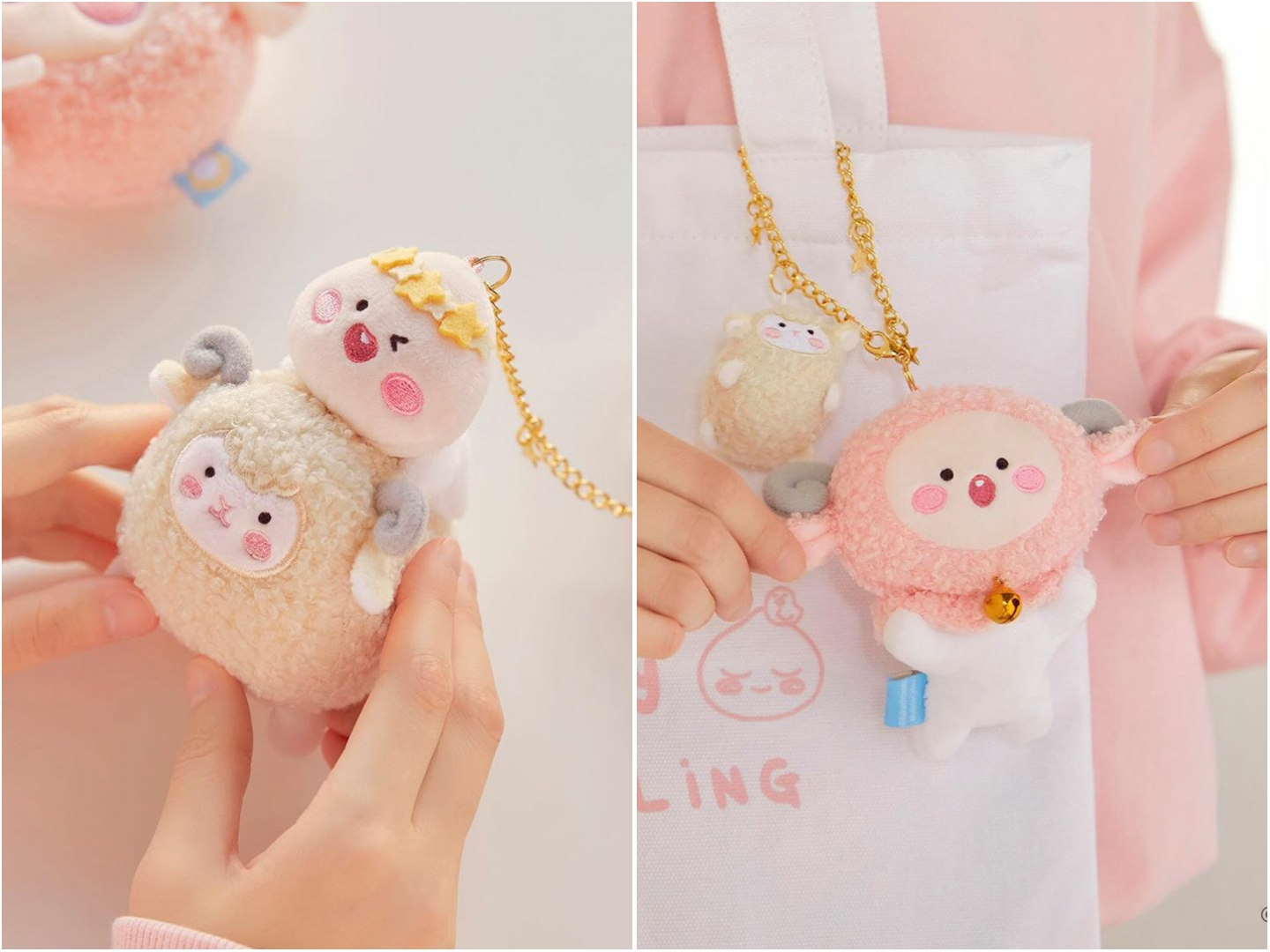 Pastel Lovely Apeach - Kakao Friends new collection, plush toy