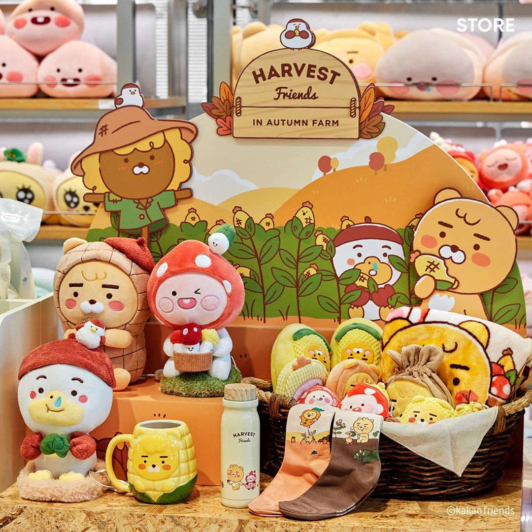 Pastel Lovely Apeach - Kakao Friends Harvest Friends collection