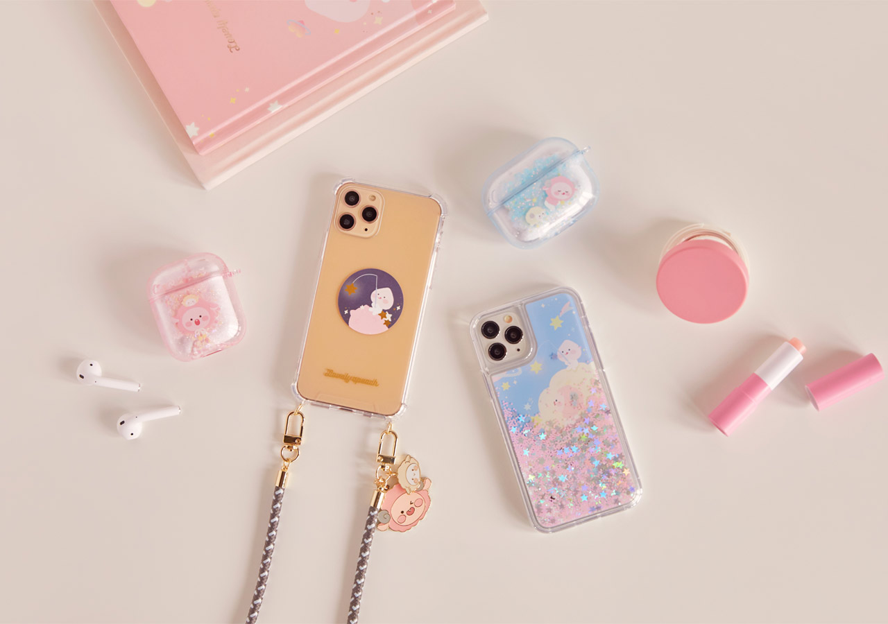 Pastel Lovely Apeach - Kakao Friends new collection