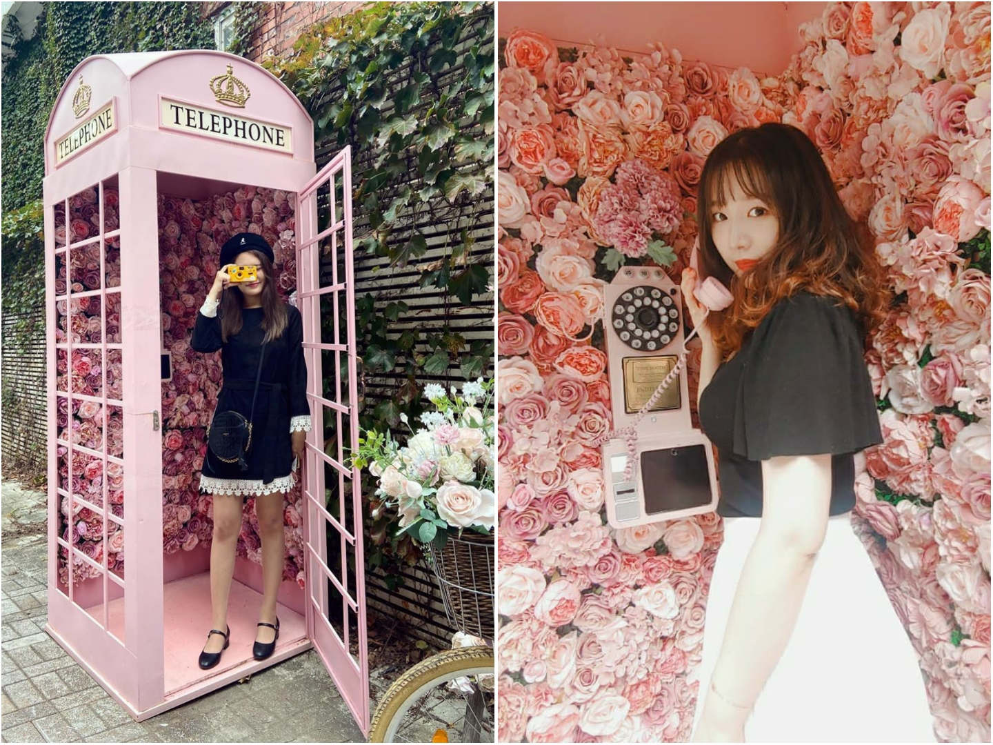 Rose Petal Yeonnam-dong - Floral payphone booth