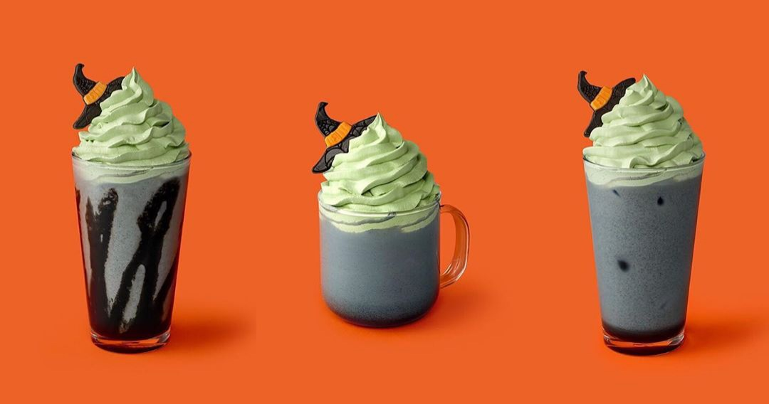 Starbucks Korea Halloween 2020 - Little Witch Halloween Cream Frappuccino, Little Witch Halloween Latte, and Iced Little Witch Halloween Latte