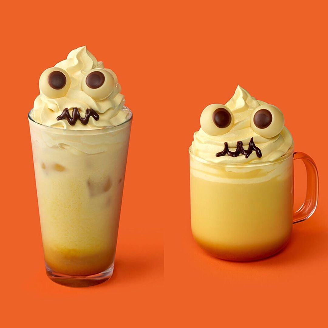 Starbucks Korea Halloween 2020 - Pumpkin Halloween Tea Latte (Iced & Hot)