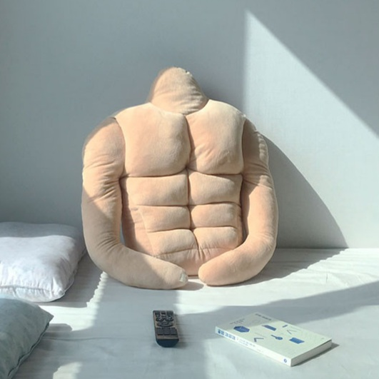 Korean Lifestyle Goods - muscle boyfriend cushion with abs