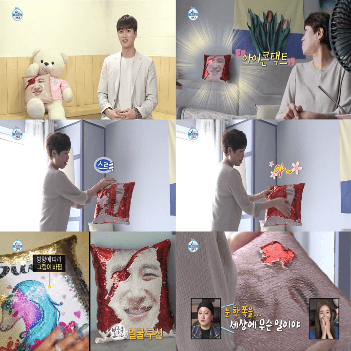 Korean Lifestyle Goods - i live alone sequin cushions
