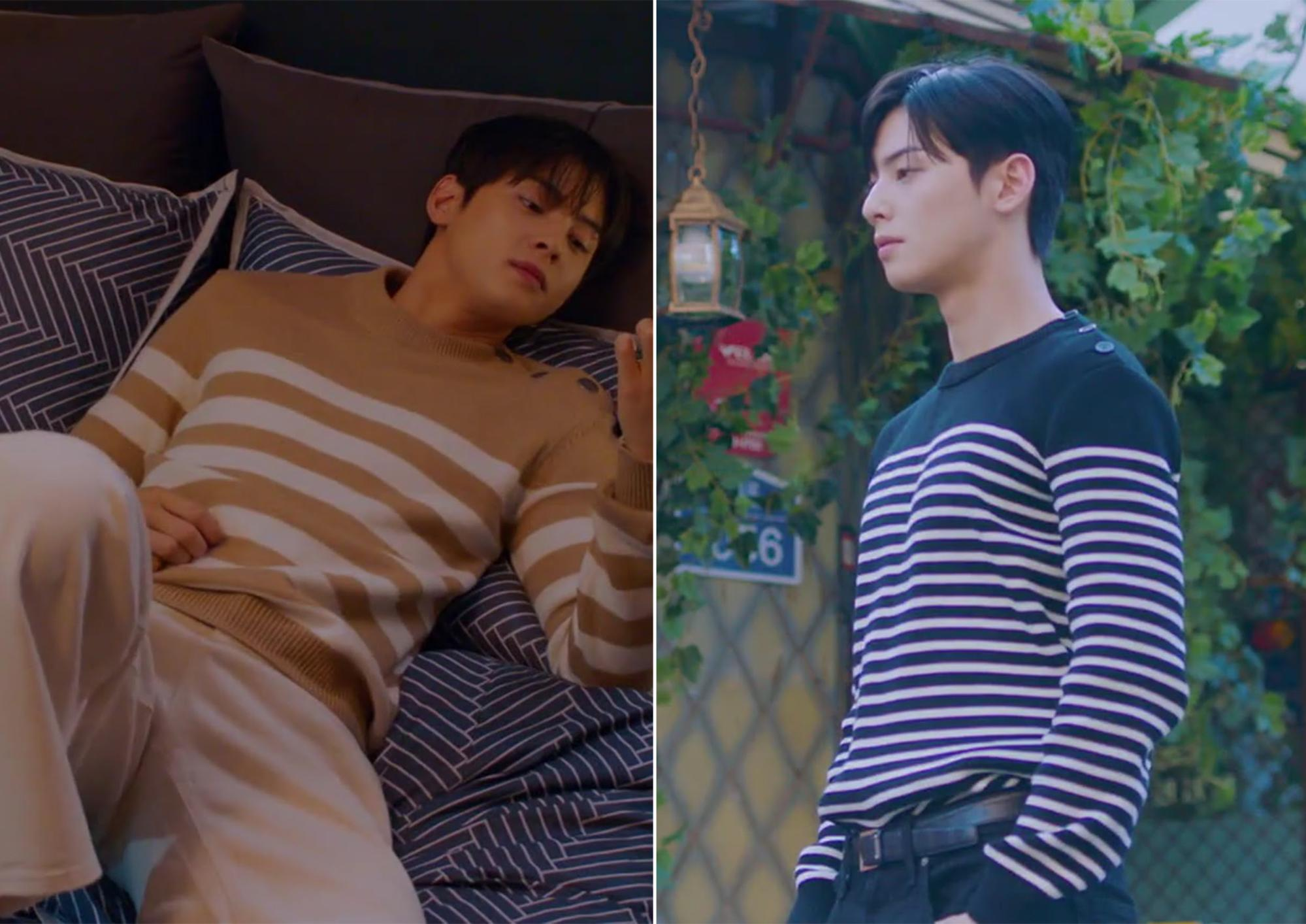 true beauty outfits - suho striped jumper