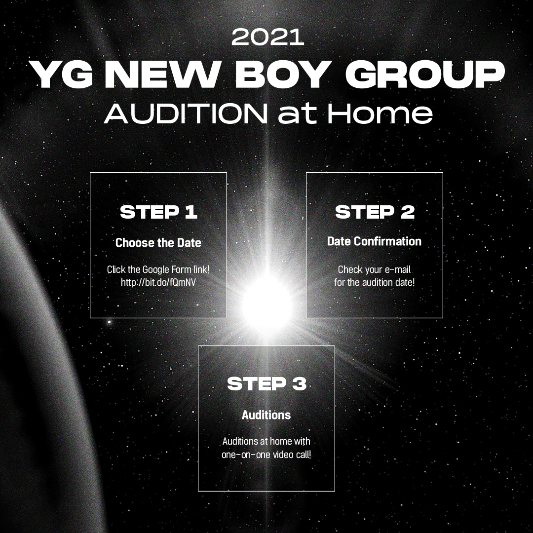 YG audition 2021 - poster