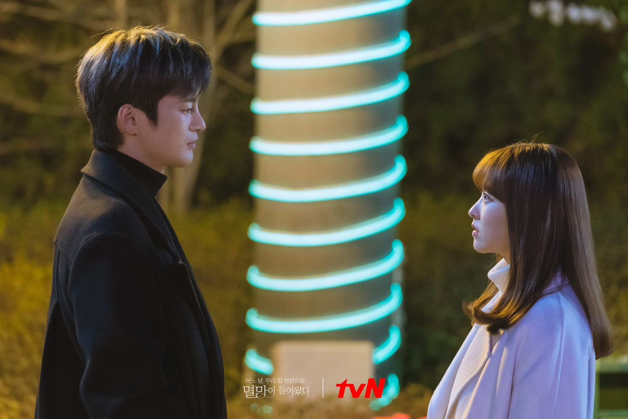 romantic moments in doom at your service - myul mang and dong-kyung