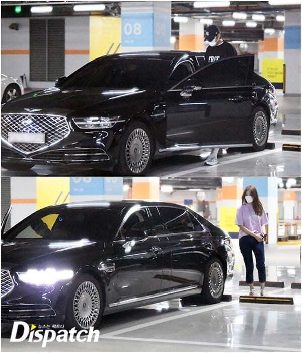 lee minho and yeonwoo dating rumour - at the carpark