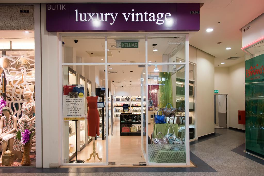 storefront of luxury vintage