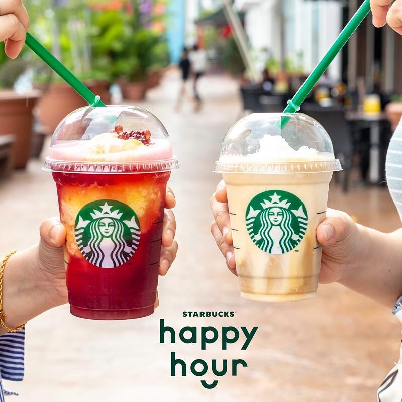 Starbucks happy hour promo